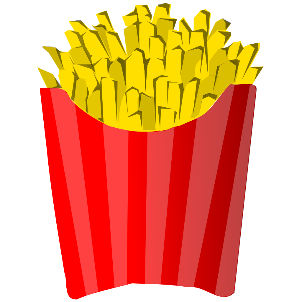 Money food clipart svg free File:French fries juliane kr r.svg - Wikimedia Commons svg free