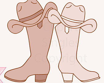 Country western wedding clipart