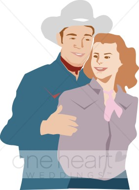 Country couple clipart jpg stock Country Western Couple Clipart | Western Wedding Clipart jpg stock