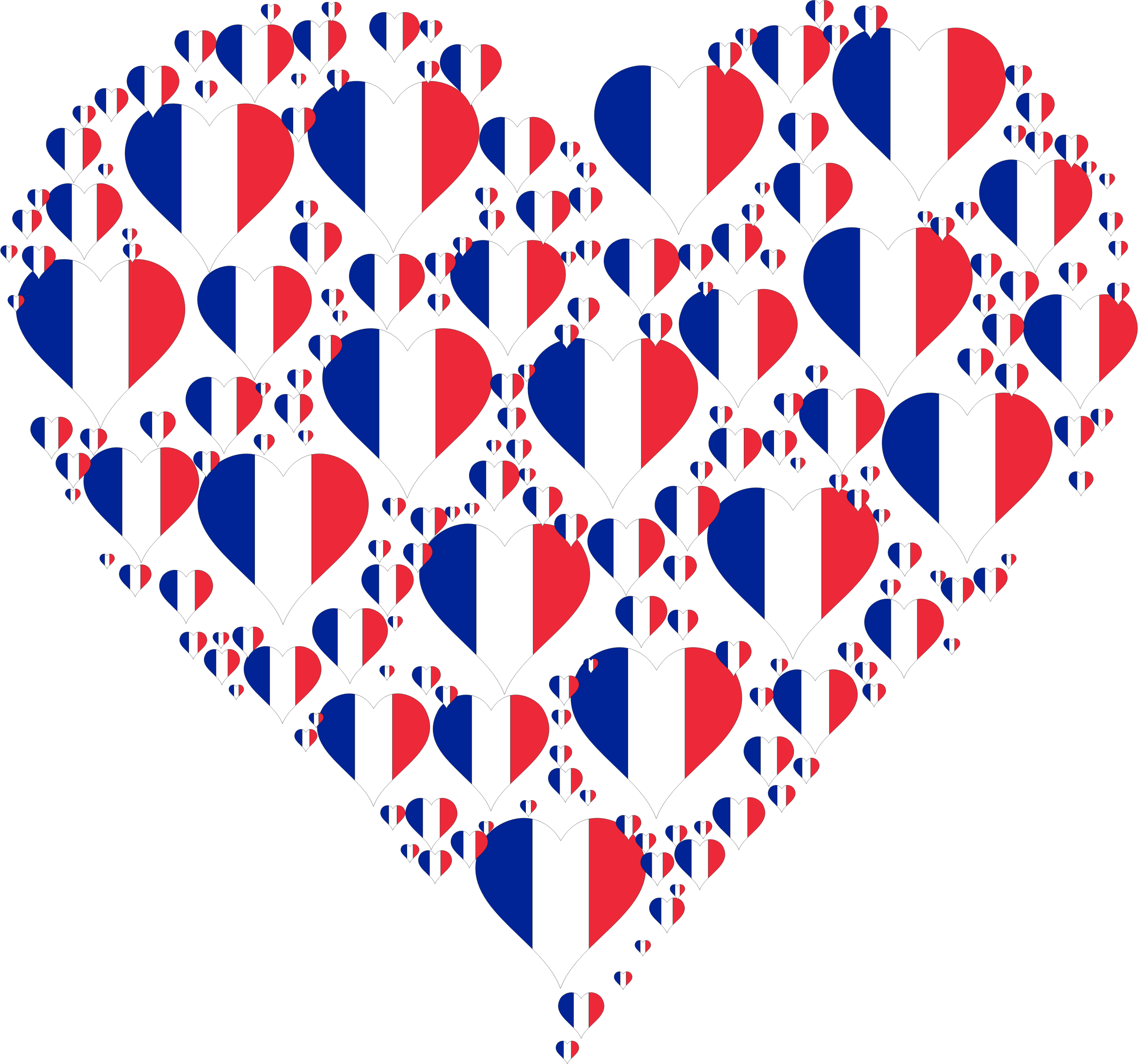 Country heart clipart banner transparent Clipart - Heart France Fractal banner transparent
