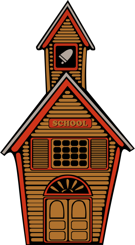 Old school house clipart picture freeuse stock Clipart - school country abiclipa 01 picture freeuse stock
