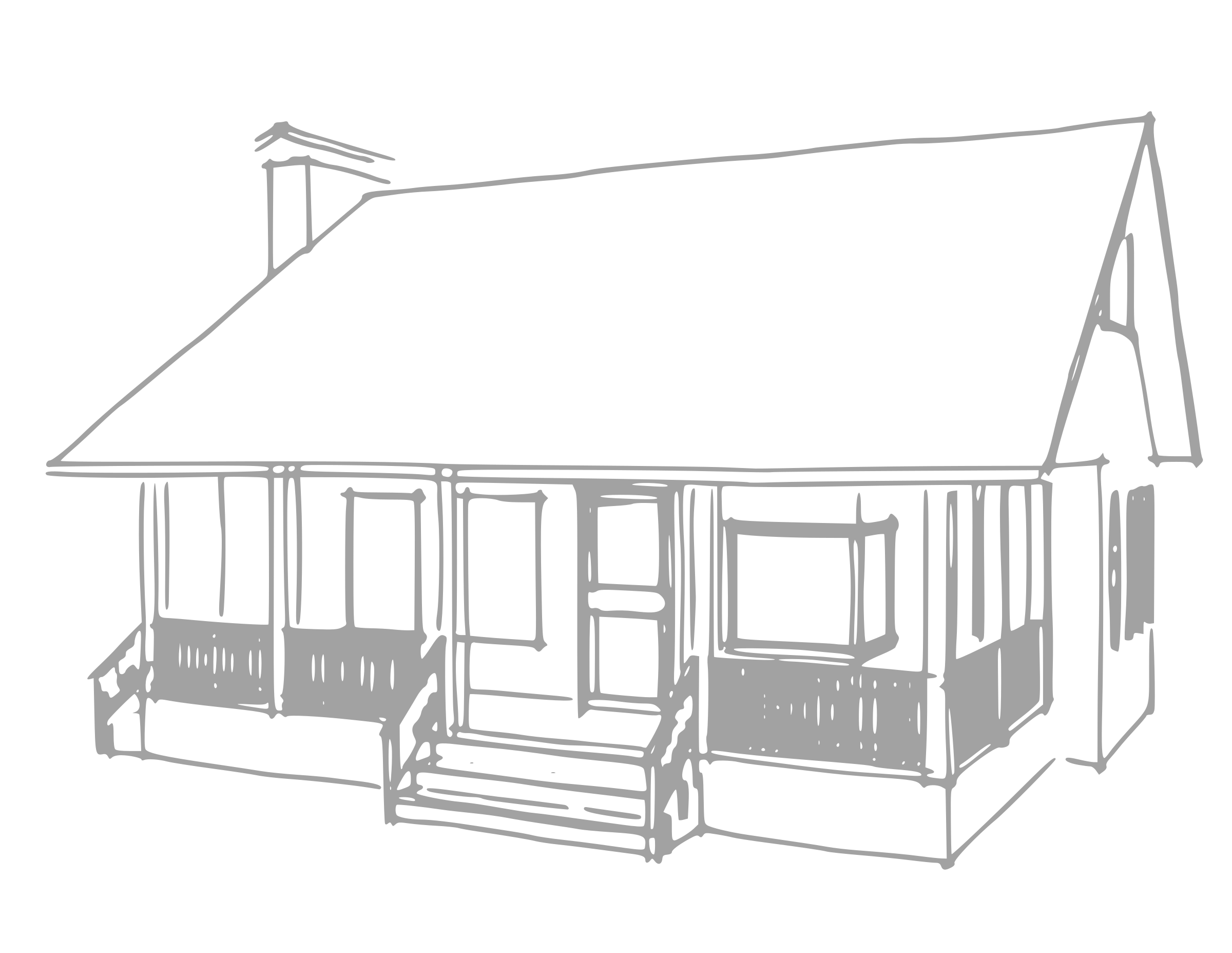 Country house clipart black and white png library download Small Country House With Porch And Flue Royalty Free Vector Clip Art ... png library download