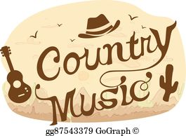 Country music clipart free banner transparent stock Country Music Clip Art - Royalty Free - GoGraph banner transparent stock
