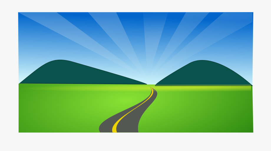 Country road logo clipart png royalty free download Landscape Clipart Sky - Country Road Clip Art #177897 - Free ... png royalty free download