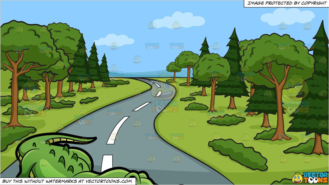 Country road logo clipart clipart A Crocodile At The Zoo and A Winding Country Road Background clipart