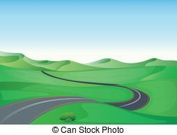 Winding country road clipart free picture library library 25+ Winding Country Road Landscape Silhouette Clip Art ... picture library library