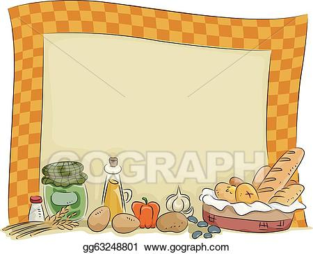 Country style clipart jpg freeuse Vector Art - Country style kitchen board background. Clipart ... jpg freeuse