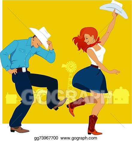 Vector Stock - Country western dance. Clipart Illustration ... graphic royalty free stock