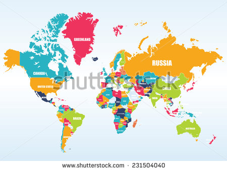 Country world map clipart clip freeuse library World Map with Countries Names Vector Free Download | 123Freevectors clip freeuse library
