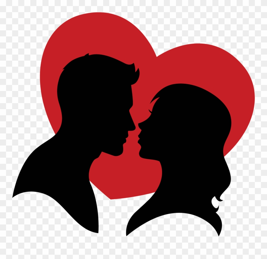 Couple in love clipart black and white transparent library Picture Black And White Couple Vector Heart - Couple ... transparent library