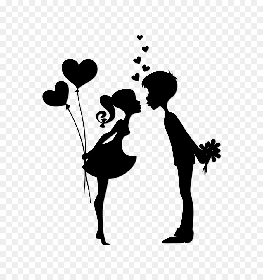 Couple in love clipart black and white royalty free Love Black And White clipart - Love, transparent clip art royalty free