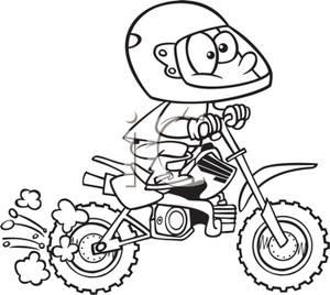 Funny dirt bike clipart black and white banner black and white stock A Black and White Cartoon of a Boy Riding on a Dirt Bike ... banner black and white stock