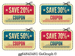 Coupom clipart clip black and white Coupon Clip Art - Royalty Free - GoGraph clip black and white