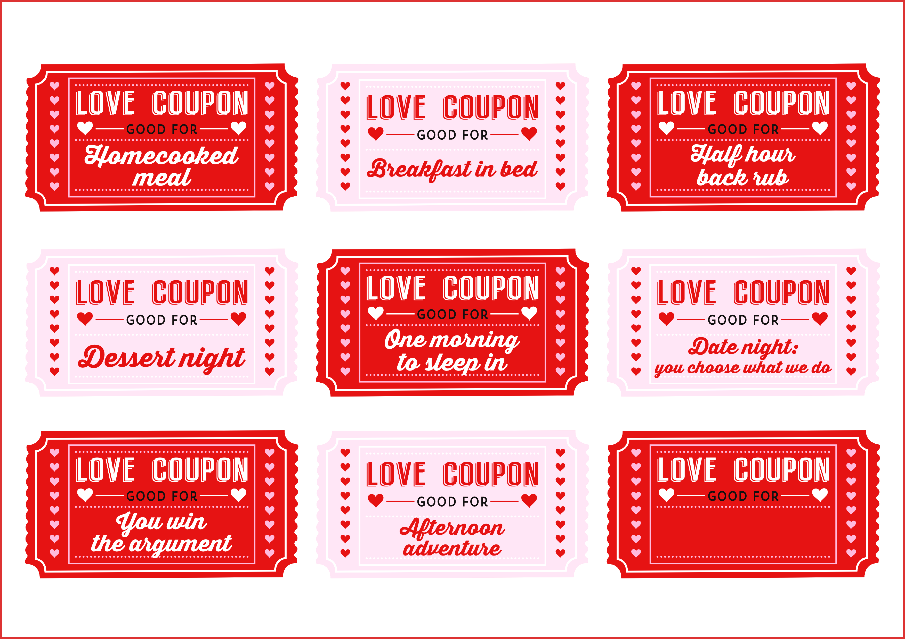 Coupon book clipart clipart free library Awesome Love Coupon Template | cobble usa clipart free library