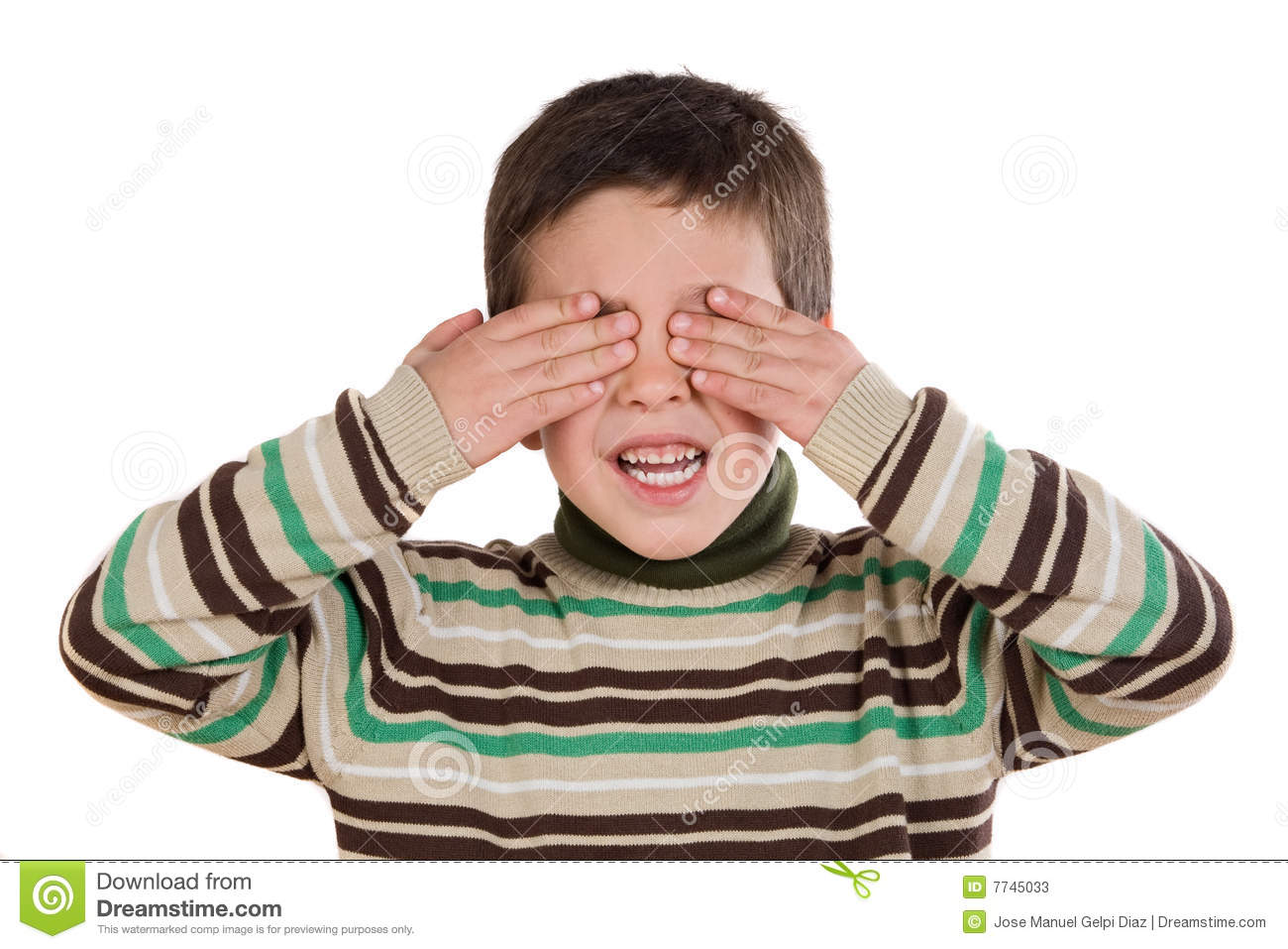 Cover eyes clipart vector library download Child Covering Eyes Stock Photo - Image: 30690540 vector library download