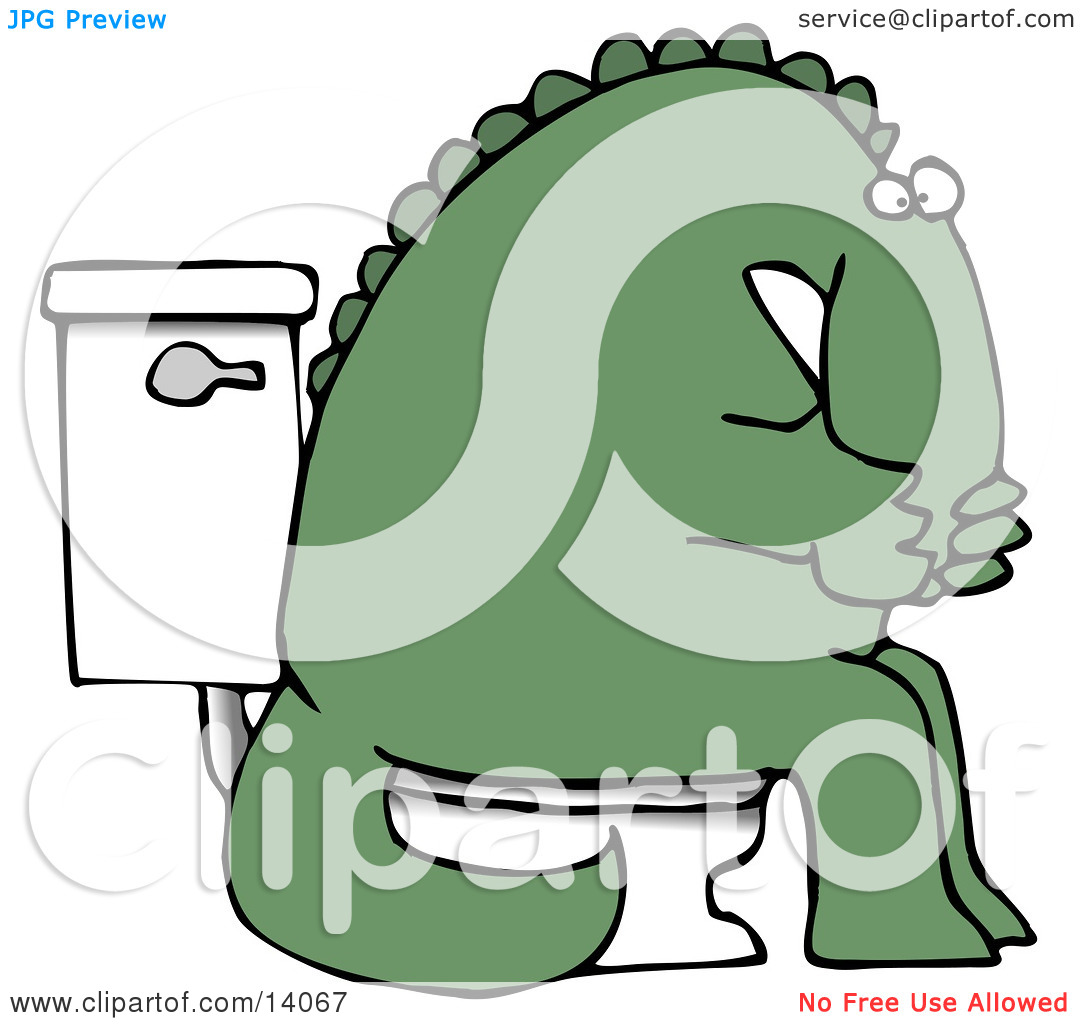 Cover mouth clipart image royalty free download Green Dino Covering His Mouth or Nose While Sitting on a Toilet ... image royalty free download
