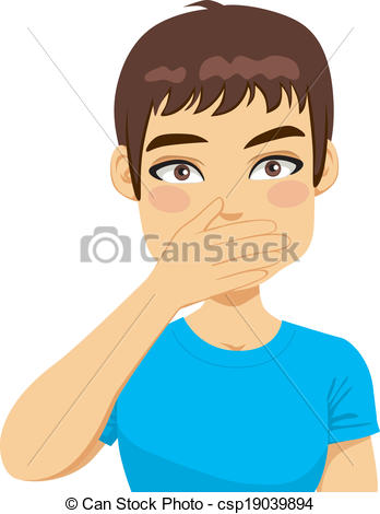 Cover mouth clipart picture transparent Covering mouth Illustrations and Clipart. 955 Covering mouth ... picture transparent