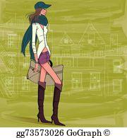 Covergirl clipart jpg library stock Covergirl Clip Art - Royalty Free - GoGraph jpg library stock