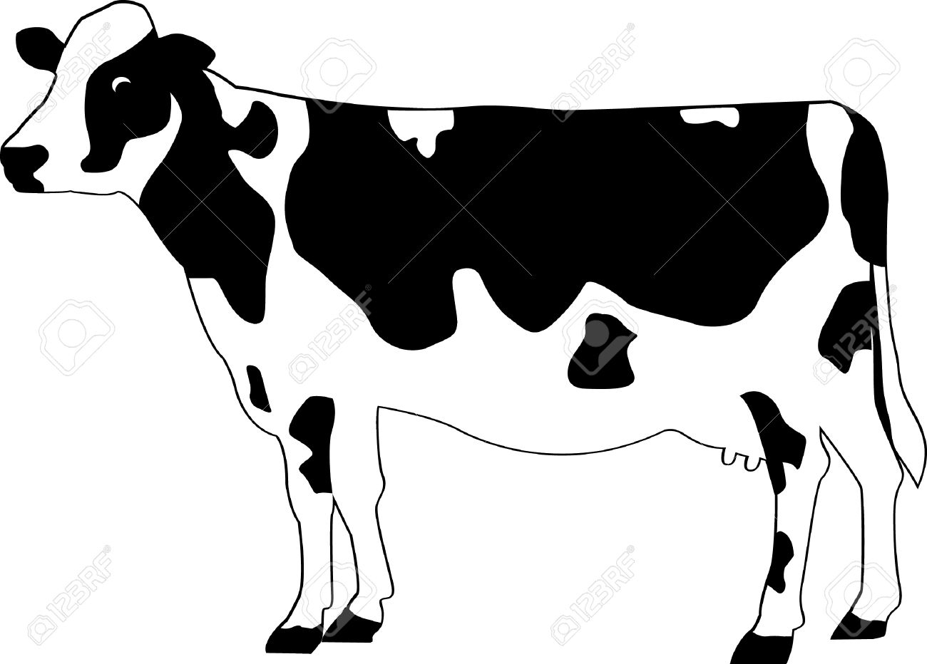 Free clipart farm animals black and white cow graphic transparent download Black And White Cow Clipart | Free download best Black And ... graphic transparent download