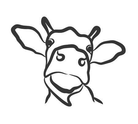 Cow head clipart black and white clip royalty free download Cow head clipart black and white 4 » Clipart Portal clip royalty free download