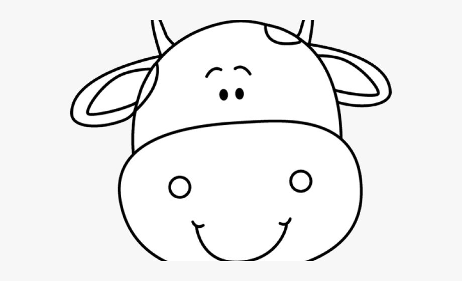 Cow head clipart black and white clipart transparent library Cow Face Cliparts - Cute Cow Head Clipart, Cliparts & Cartoons - Jing.fm clipart transparent library