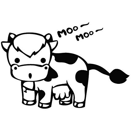 Cow mooing clipart clip transparent download Amazon.com: Cow Moo Moo - (Color: Black) Decal - 5.9\
