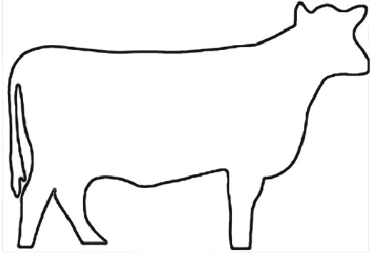 Cow outline clipart clip art royalty free library Free Outline Of A Cow, Download Free Clip Art, Free Clip Art ... clip art royalty free library