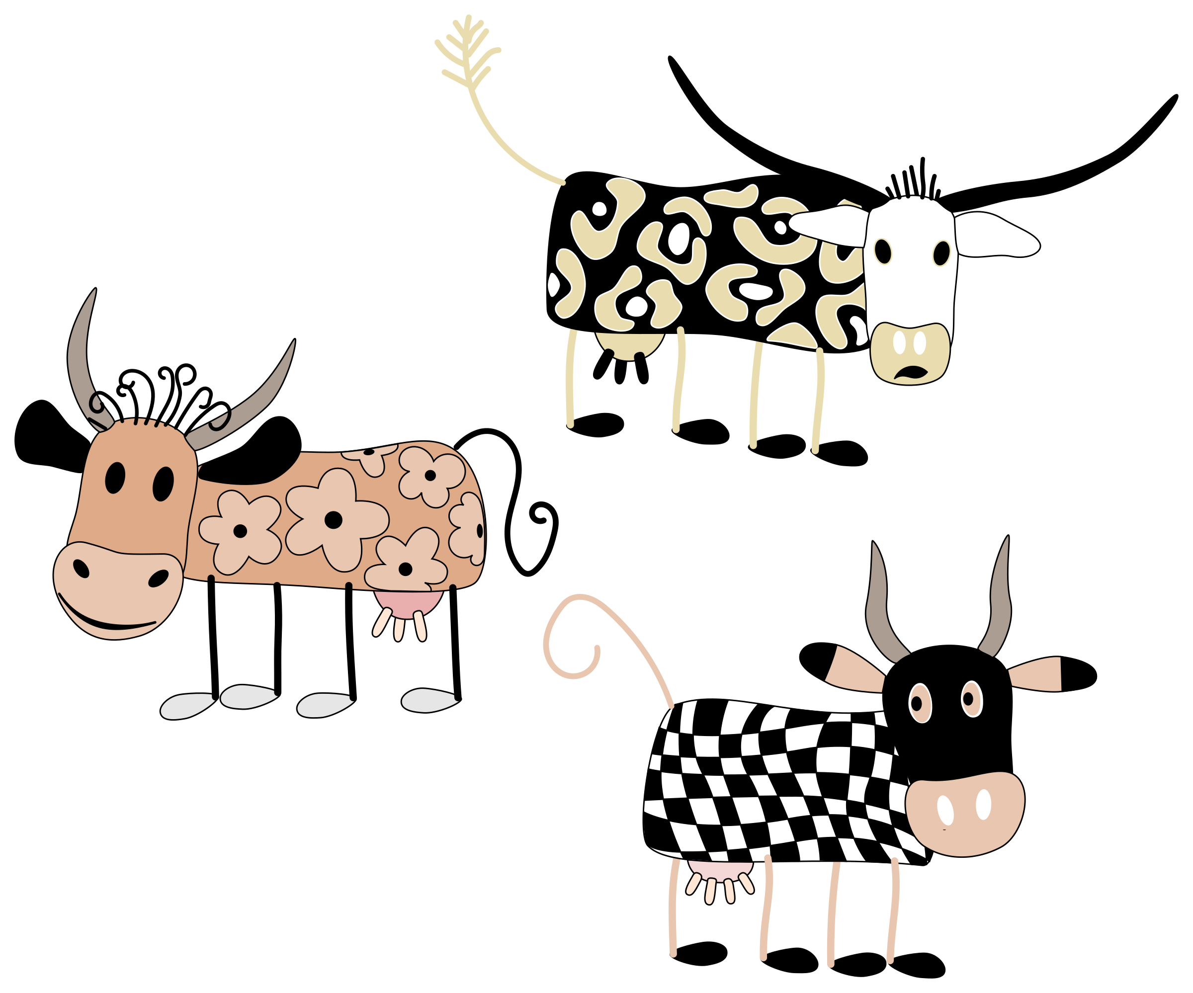 Cow with baseball clipart vector free download Cartoon cows clipart | ClipartMonk - Free Clip Art Images vector free download