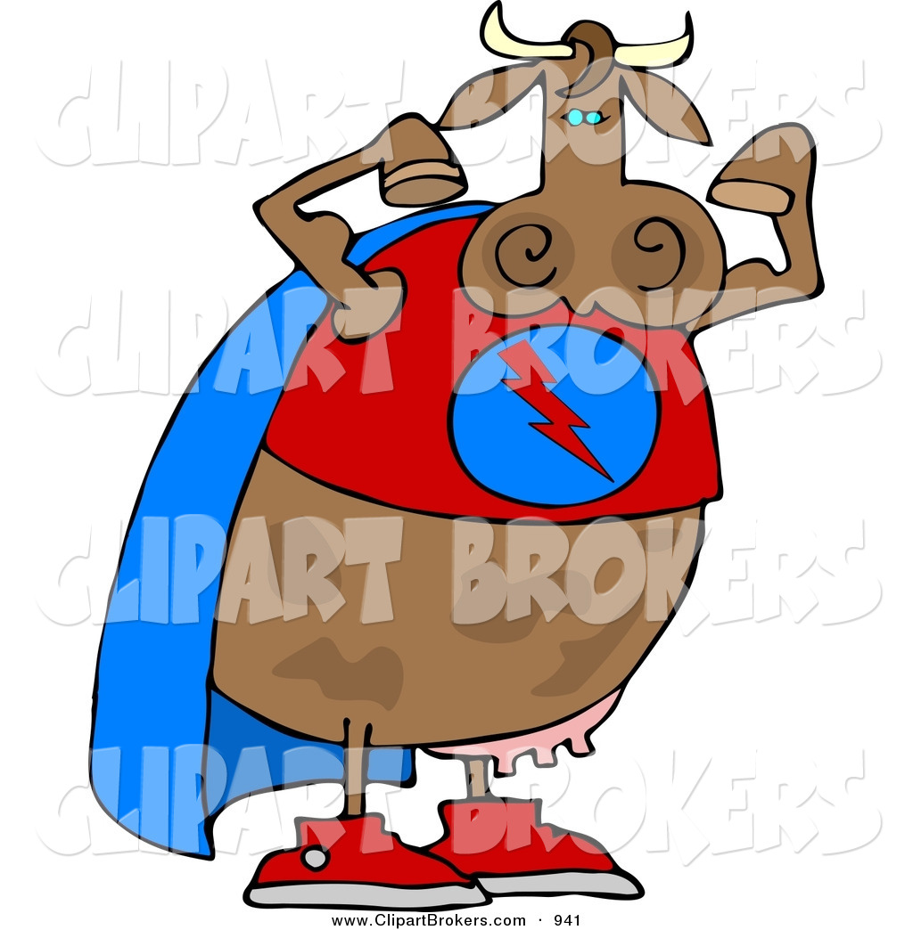 Cow with mask and cape cartoon clipart clip library Clip Art Cartoon of a Muscular Strong Superhero Cow Wearing a Cape ... clip library
