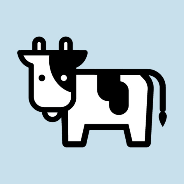 Cow with mask and cape cartoon clipart clip art transparent library Cartoon Cow Icon clip art transparent library