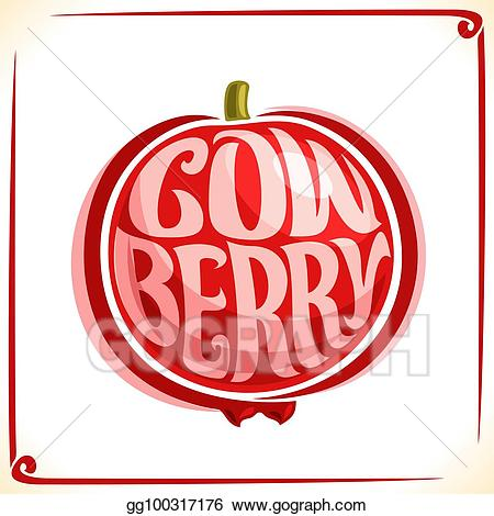 Vector Stock - Vector logo for cowberry. Clipart Illustration ... clipart freeuse library