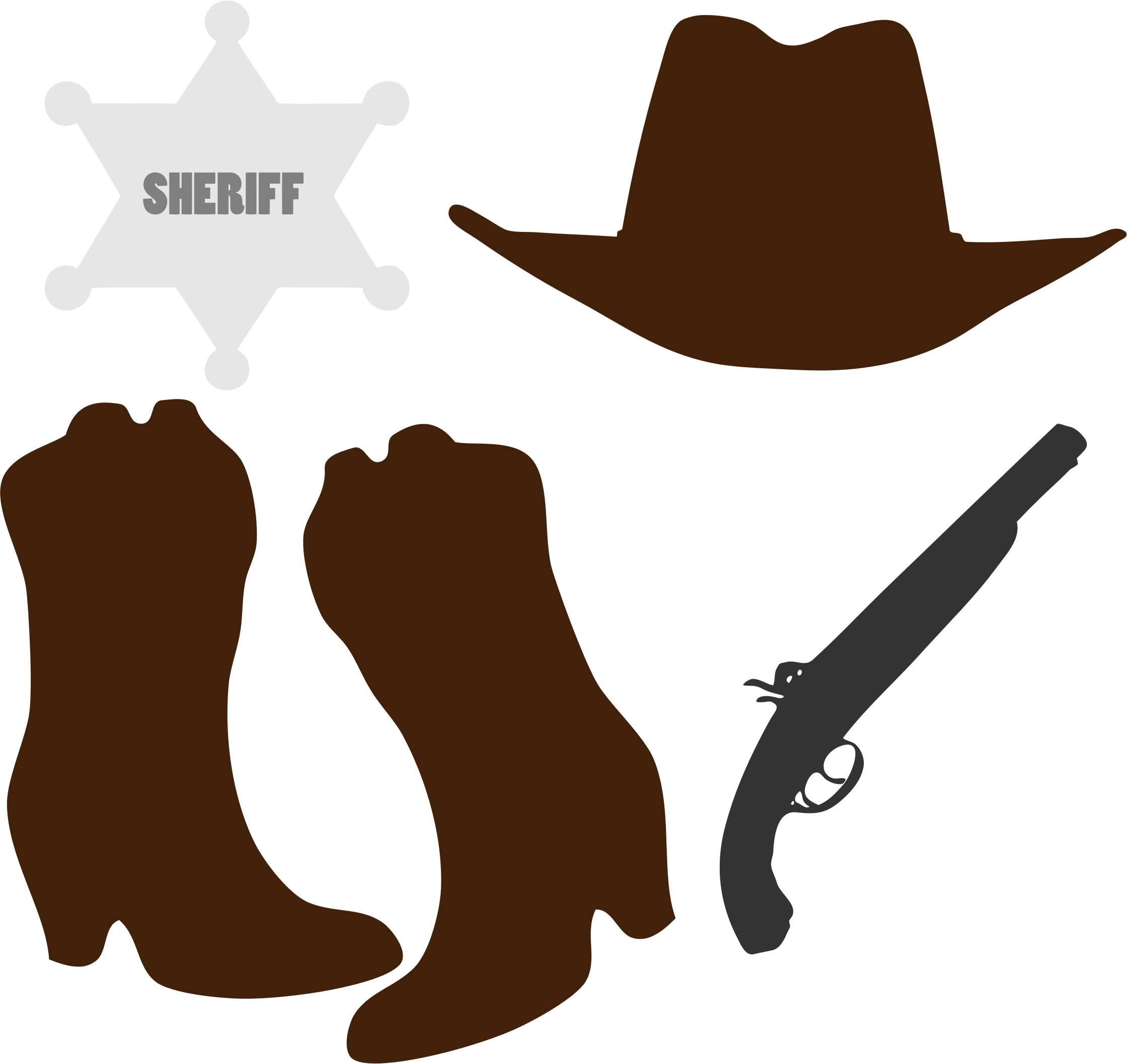 Cowboy accessories clipart clipart freeuse stock Hat n Boots Cowboy boot Clip art - Cowboy Accessories Cliparts png ... clipart freeuse stock