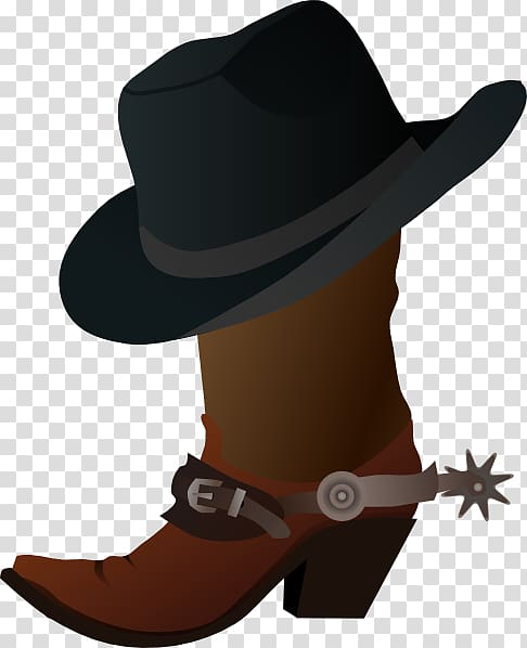 Hat n Boots Cowboy boot , Cartoon Cowboy transparent background PNG ... graphic black and white library