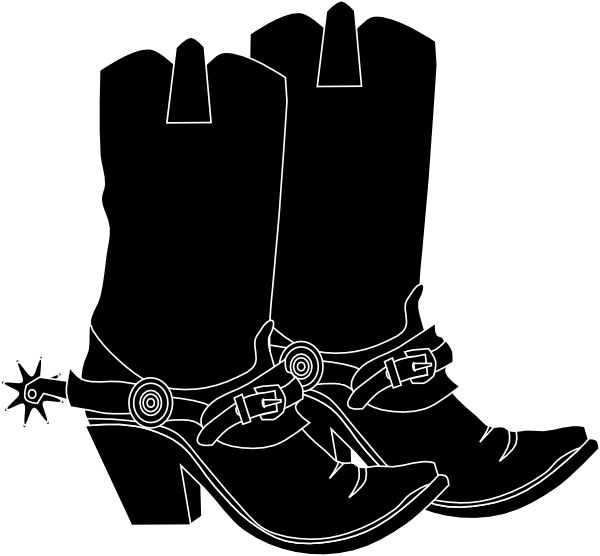 Cowboy at cross clipart graphic Black Western Boots Clipart graphic