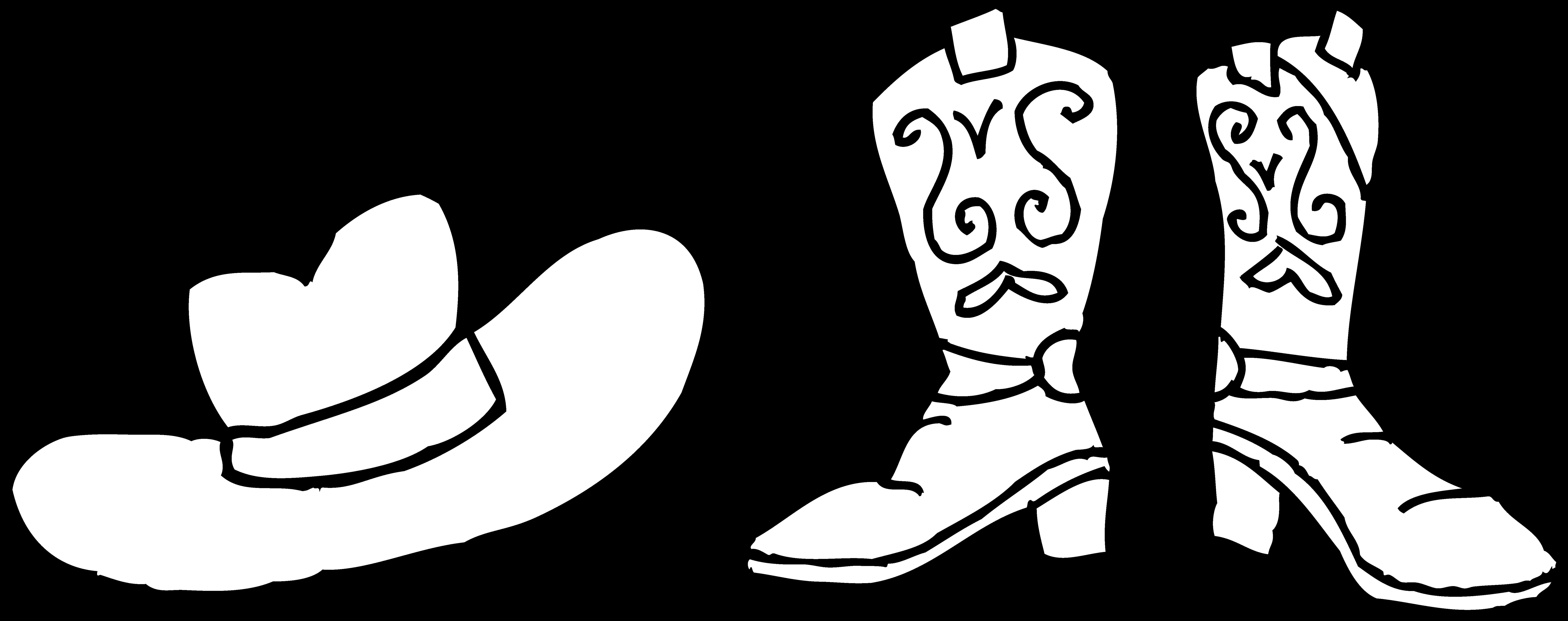 Western clipart cross svg transparent stock Cowboy Clipart Black And White - clipart svg transparent stock