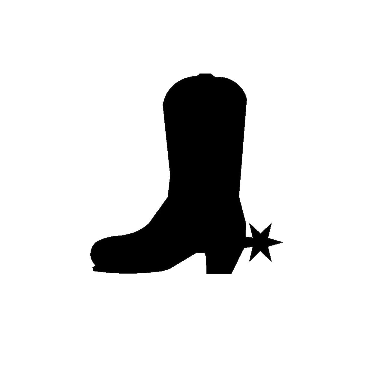 Cowboy boot silhouette clipart