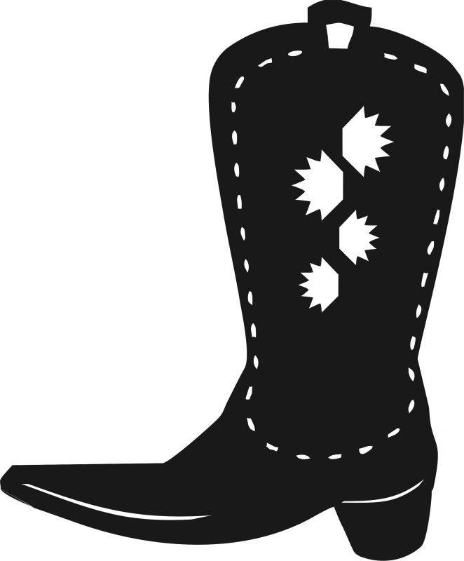 Cowboy boot silhouette clipart image transparent download Cowboy Boot w/Sun Silhouettes Laser Cut Appliques image transparent download