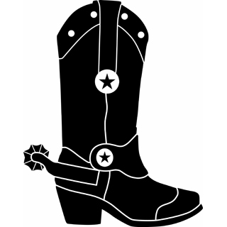 Free Cowgirl Boots Silhouette, Download Free Clip Art, Free Clip Art ... jpg freeuse library