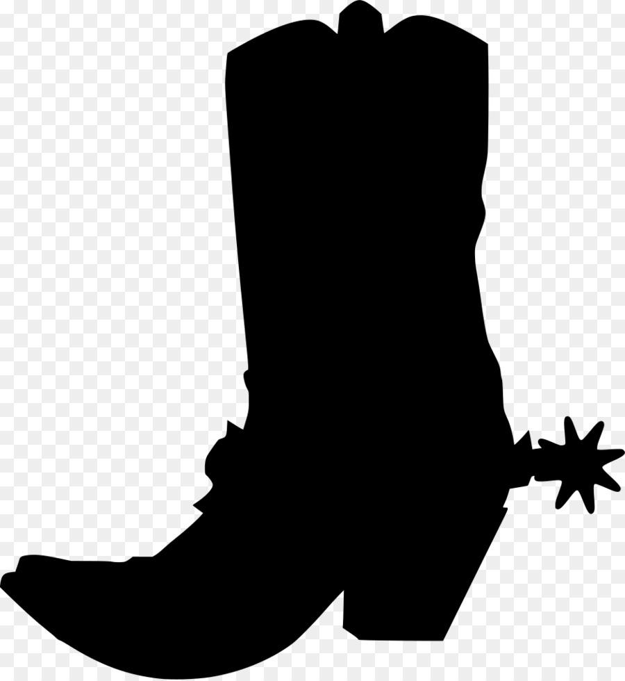 Cowboy boot silhouette clipart image black and white stock Free Cowboy Boot Silhouette Clip Art, Download Free Clip Art, Free ... image black and white stock