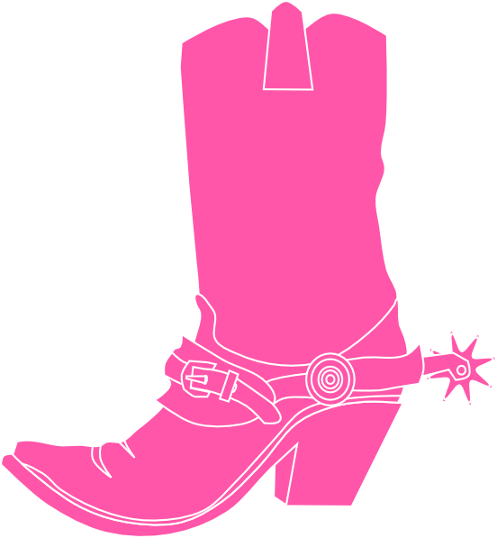 Thanksgiving boots coloring page clipart black and white library Cowgirl Boots And Pink Cowgirl Hat clip art - vector clip art online ... black and white library