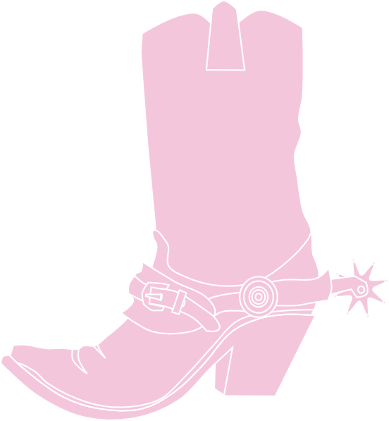 Cowboy boot with star clipart black and white download Light Pink Cowgirl Boot Clip Art at Clker.com - vector clip art ... black and white download