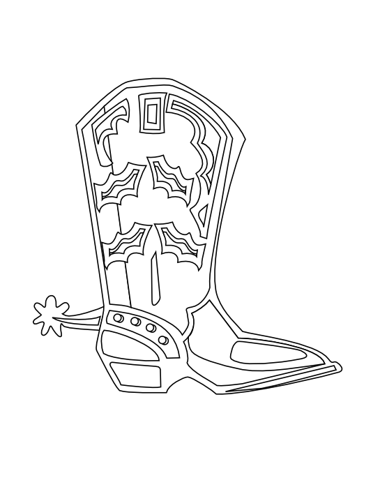Cowboy boot with star clipart banner library download Cowboy Boots Drawing at GetDrawings.com | Free for personal use ... banner library download