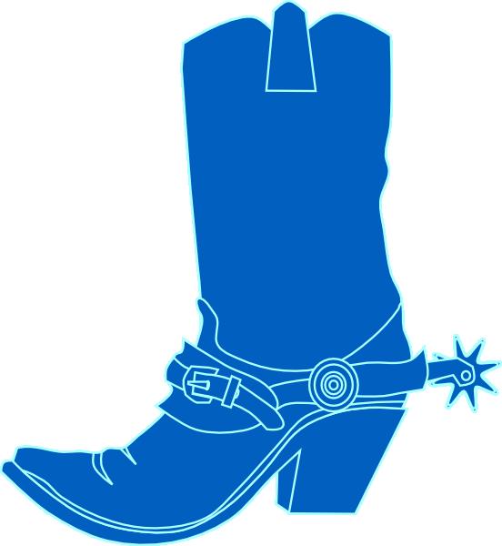 Cowboy boot with star clipart jpg stock Cowbpy Hat Blue Clip Art at Clker.com - vector clip art online ... jpg stock