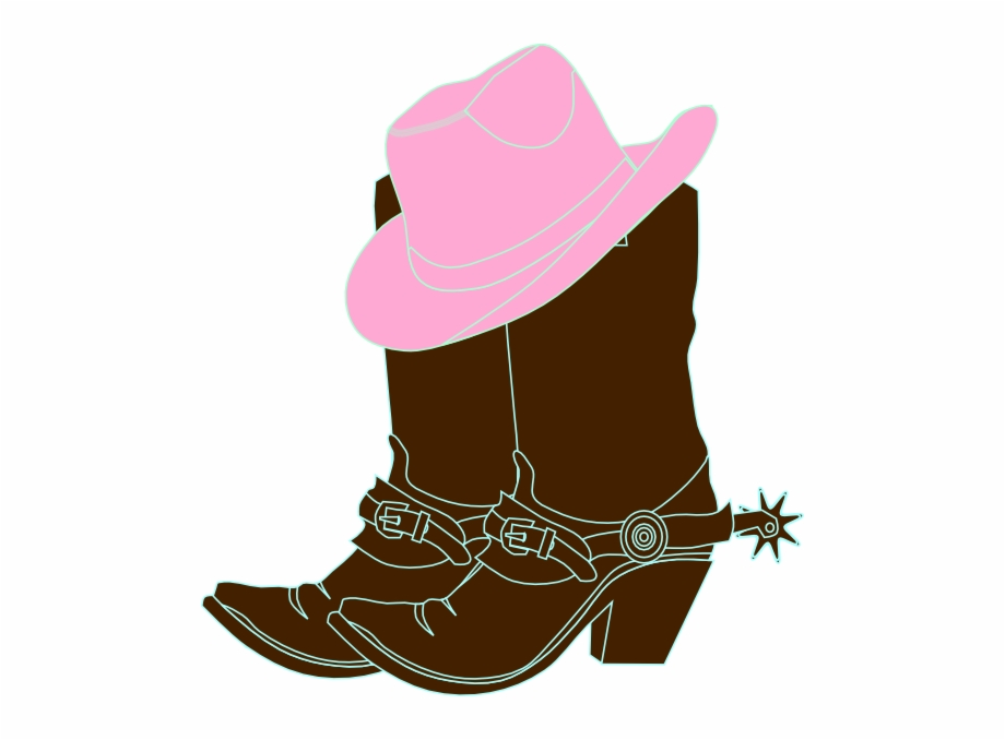 Cowboy boots and hat clipart picture royalty free download Image Library Library Cowgirl And Hat Clip Art At Clker - Pink ... picture royalty free download