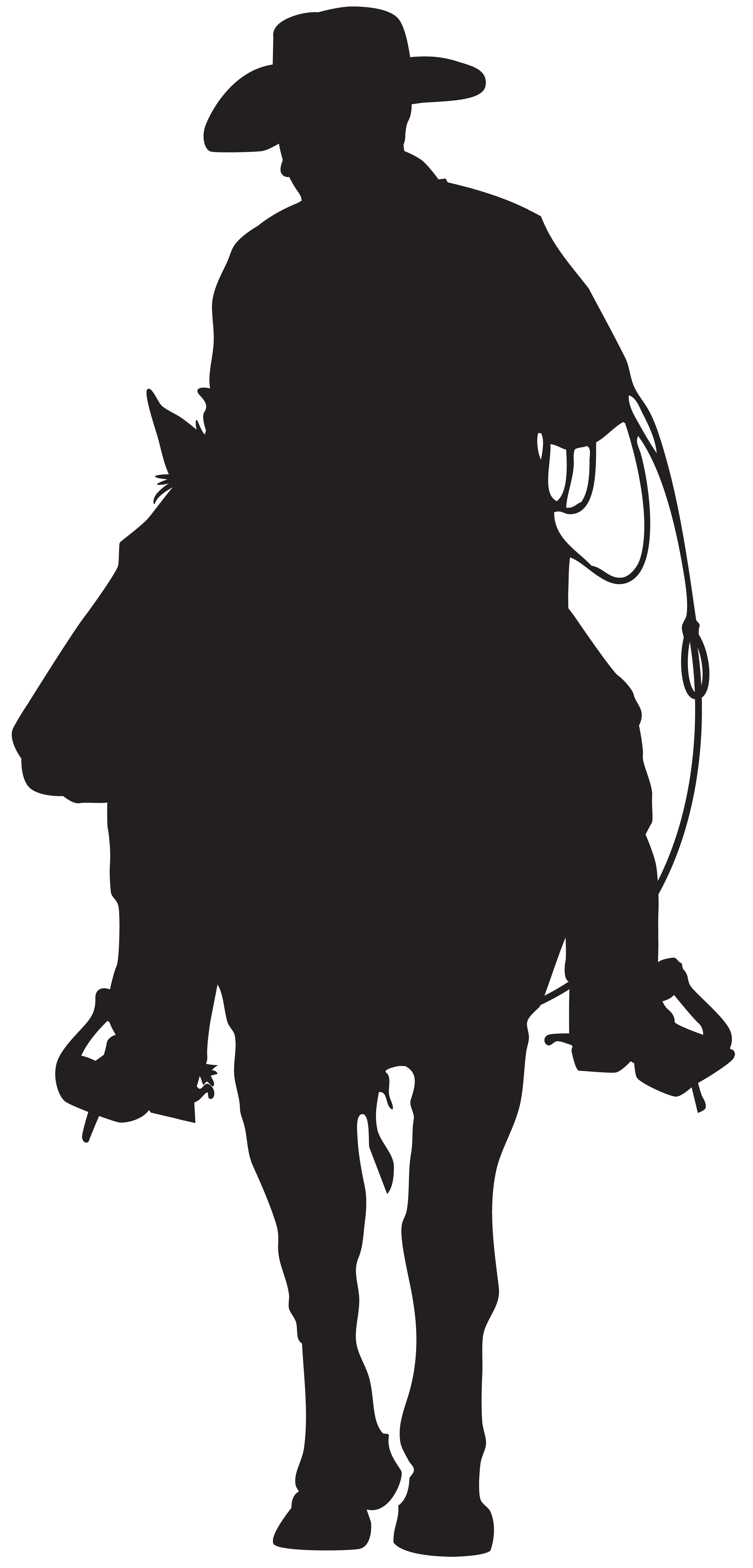 Cowboy star clipart clip art black and white stock Cowboy Silhouette PNG Clip Art Image | Gallery Yopriceville - High ... clip art black and white stock