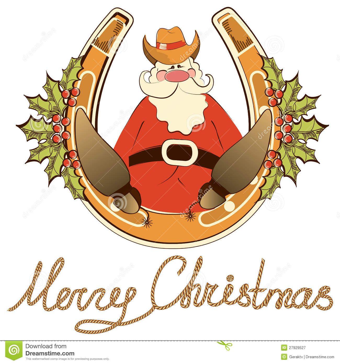 cowboy santa | ... Free Stock Photography: Santa in cowboy shoes sit ... svg library library
