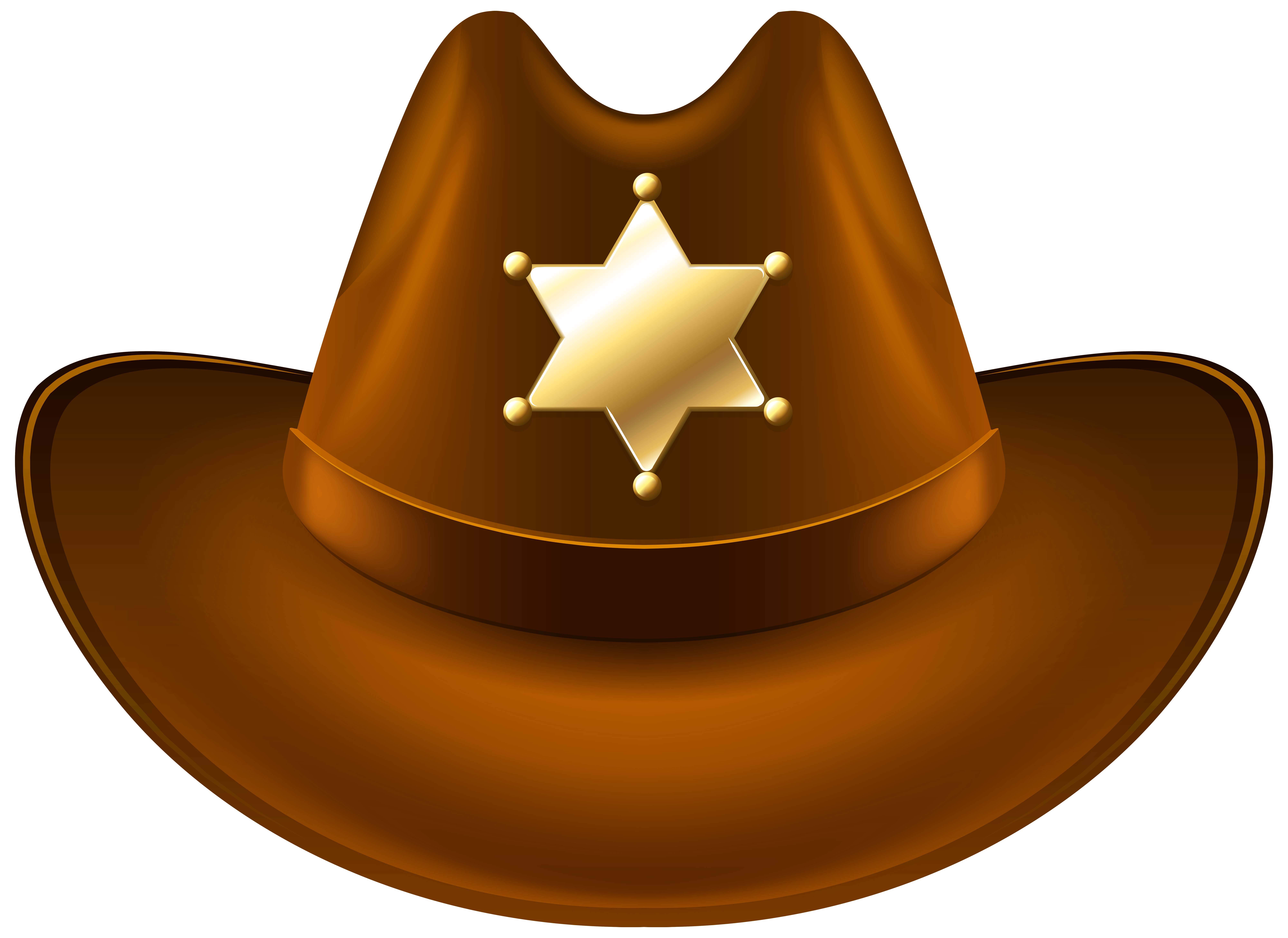 Cowboy football clipart clip art freeuse download Cowboy Hat with Sheriff Badge Transparent PNG Clip Art Image ... clip art freeuse download