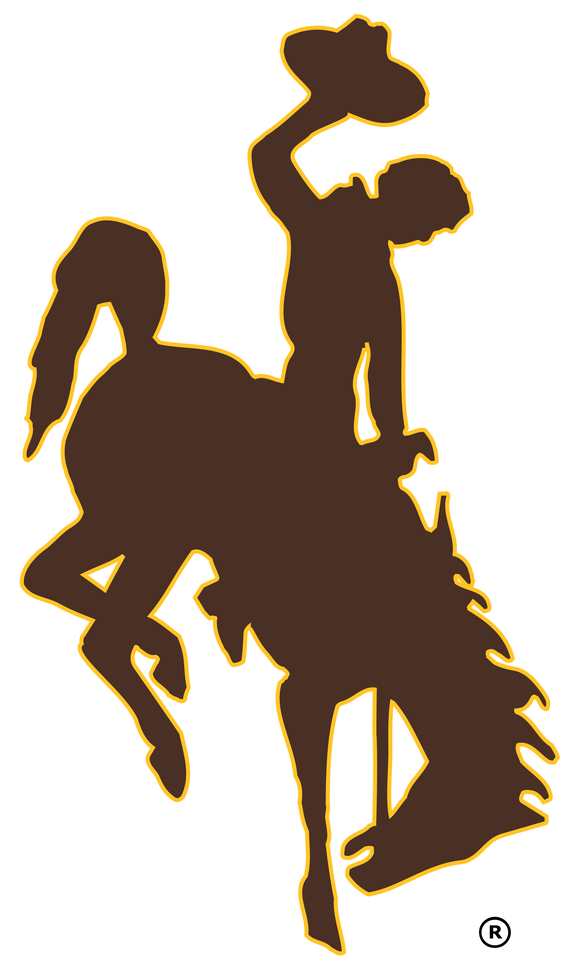 Cowboy football clipart vector transparent download Wyoming Cowboys football - Wikipedia, the free encyclopedia | Cubs ... vector transparent download