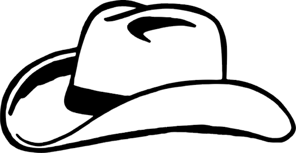 Cowboy hat clipart black and white jpg library download Cowboy hat 0 images aboutwboy on wboy hats wboys and clipart ... jpg library download