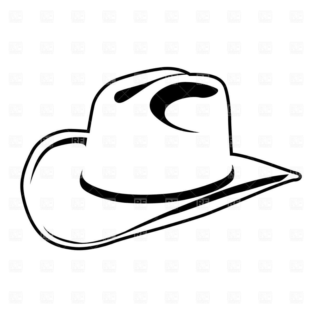 Cowboy hat on a cross clipart